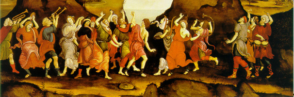 Filippino Lippi (Florence 1406 - 1469 Spoletto) Worship of the Egyptian Bull-God, Apis    1500   Painting http://raftis.org    The History of the Dance Portal